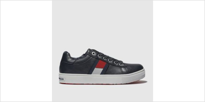 Tommy Hilfiger Navy & White Flag Lace Up Sneaker Boys Youth from Schuh