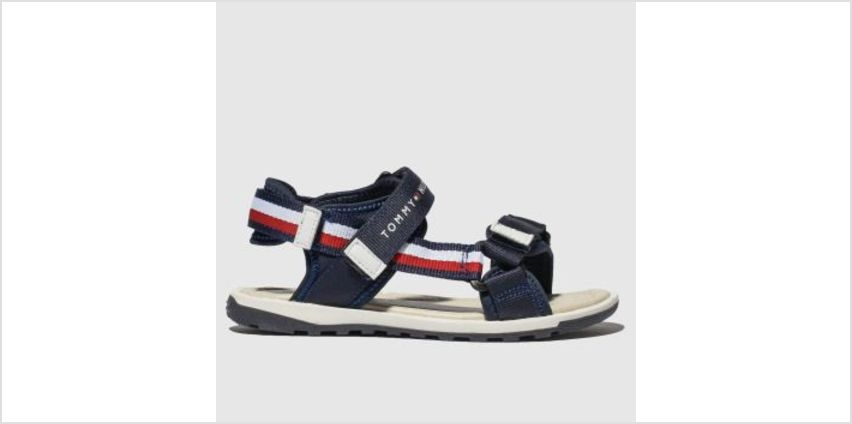 Tommy Hilfiger Navy & White Velcro Sandal Boys Youth from Schuh