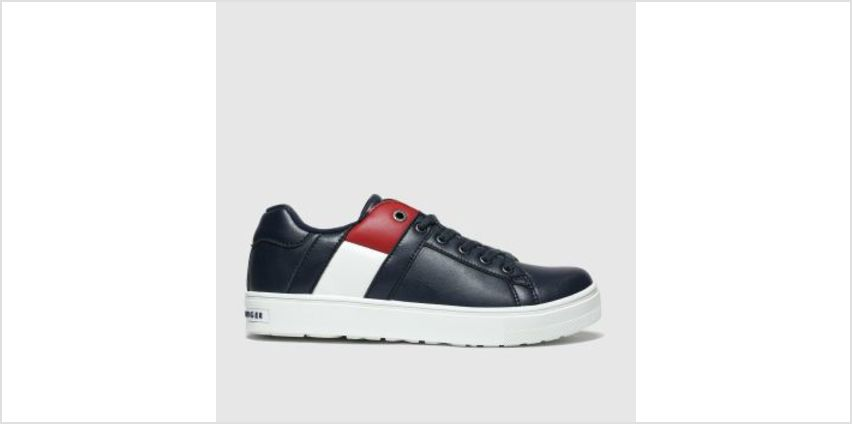 Tommy Hilfiger Navy & Red Lace Up Sneaker Boys Youth from Schuh