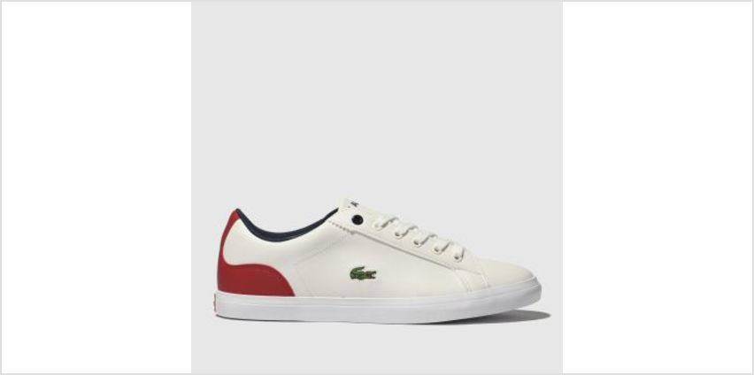 Lacoste White & Red Lerond Boys Youth from Schuh