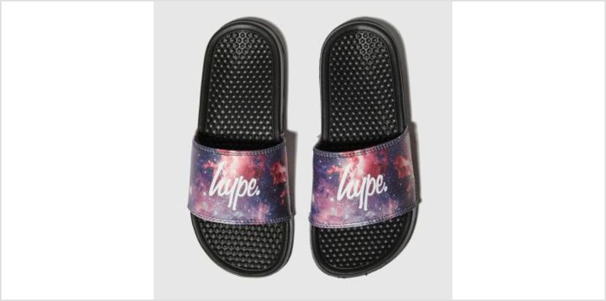 Hype Black & Purple Fired Up Sliders Boys Youth from Schuh