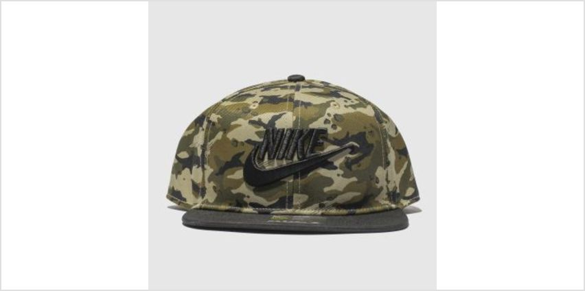 Nike Black & Green Kids True Camo 2 Caps and Hats from Schuh