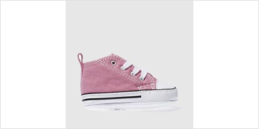 Converse Pink 1St Star Crib Girls Baby from Schuh