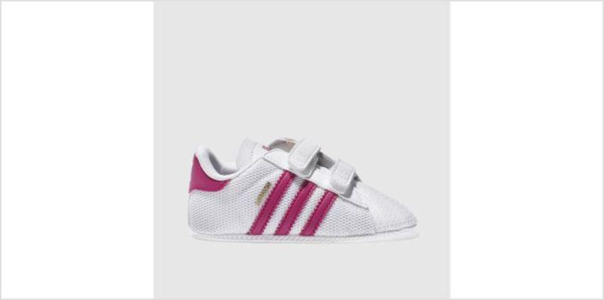 Adidas White & Pink Superstar Mesh Girls Baby from Schuh