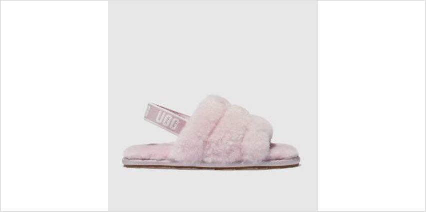 Ugg Pale Pink Fluff Yeah Slide Girls Toddler from Schuh