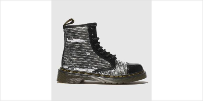 Dr Martens Silver 1460 Pooch Sequin Girls Junior from Schuh