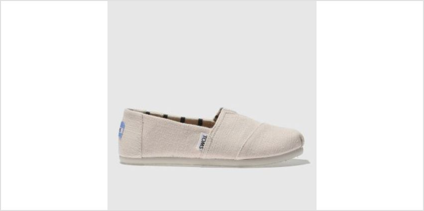 Toms Pale Pink Classic Girls Junior from Schuh