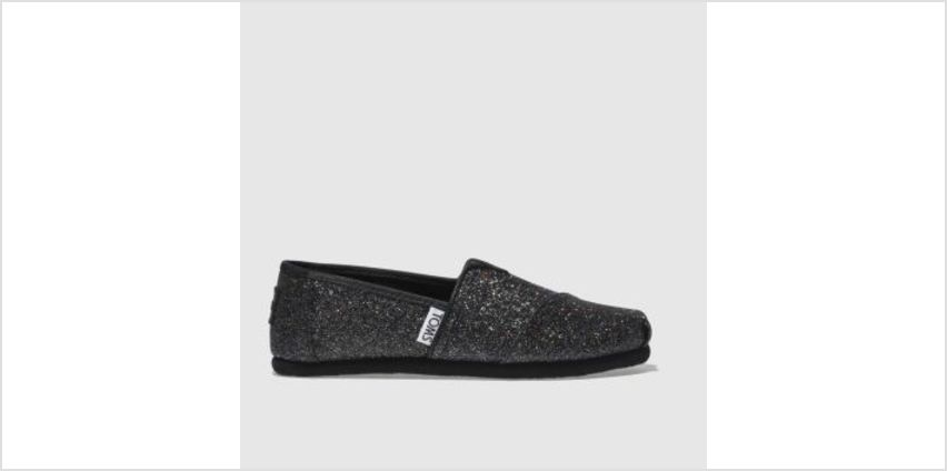 Toms Black Classic Girls Junior from Schuh