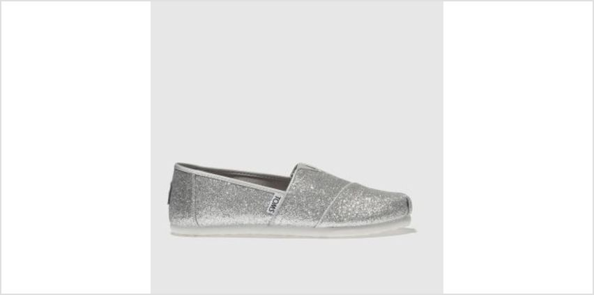 Toms Silver Classic Girls Junior from Schuh