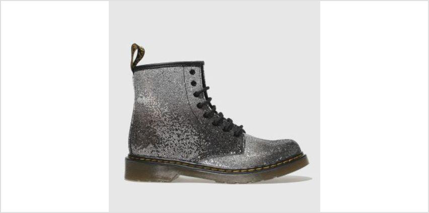 Dr Martens Black & Silver 1460 Glitter Girls Junior from Schuh