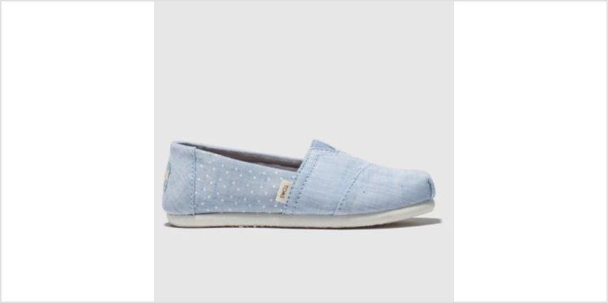 Toms Pale Blue Classic Girls Junior from Schuh
