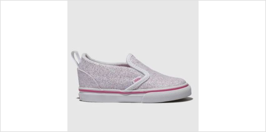 Vans White & Pink Classic Slip-On Girls Toddler from Schuh