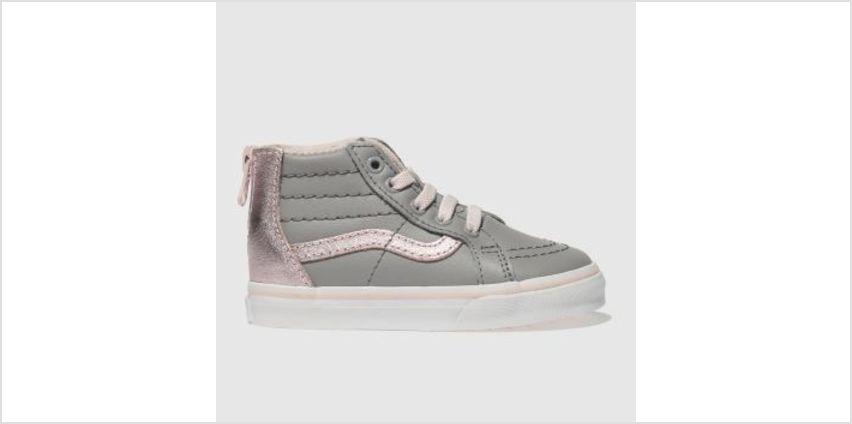 Vans Grey Sk8-Hi Zip Mte Girls Toddler from Schuh