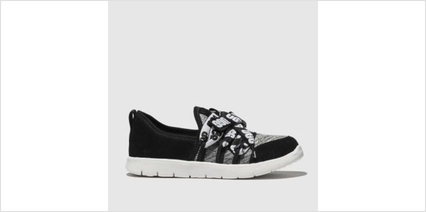 Ugg Black & Grey Seaway Sneaker Girls Toddler from Schuh