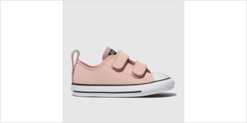 Converse Pale Pink All Star Glitter 2V Girls Toddler from Schuh