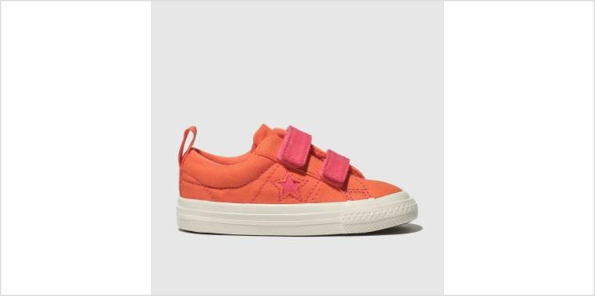 Converse Orange One Star 2V Lo Girls Toddler from Schuh