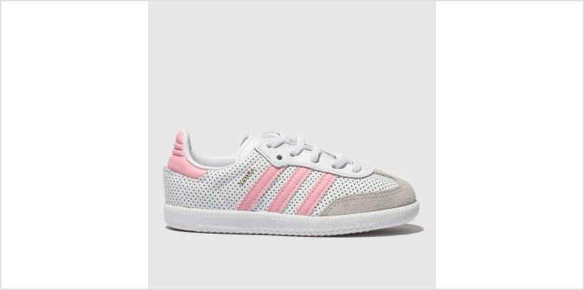 Adidas White & Pink Samba Girls Toddler from Schuh