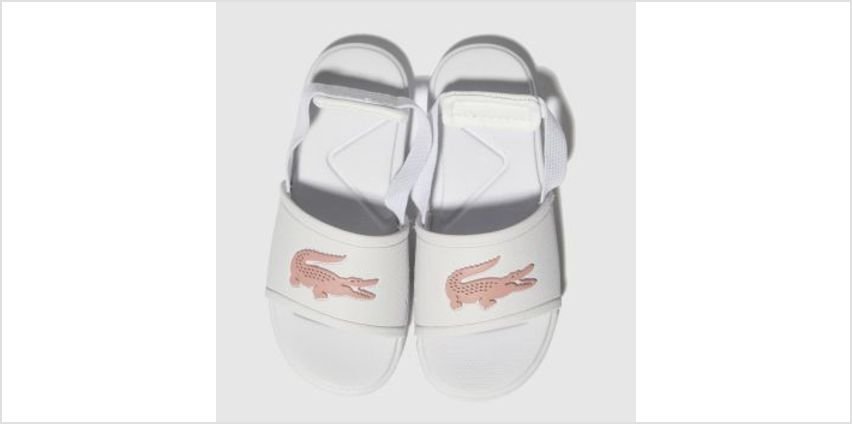Lacoste White & Pink L.30 Slide Girls Toddler from Schuh