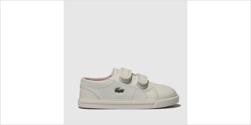 Lacoste White & Pink Riberac Girls Toddler from Schuh