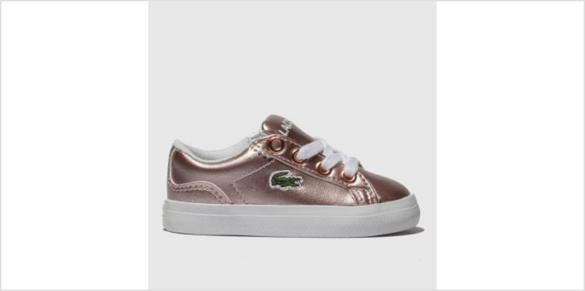 Lacoste Pink Lerond Girls Toddler from Schuh