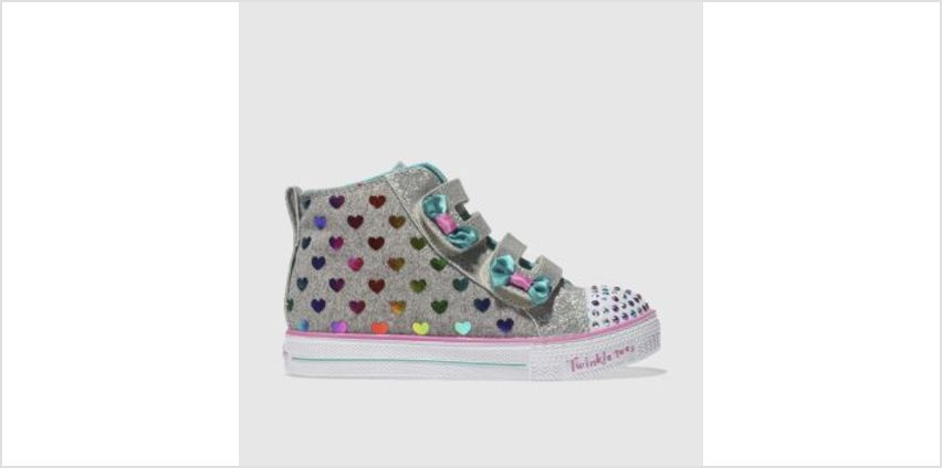 Skechers Multi Twinkle Toes Shuffles Lite Girls Toddler from Schuh