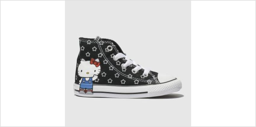 Converse Black & White All Star Hello Kitty Hi Girls Toddler from Schuh