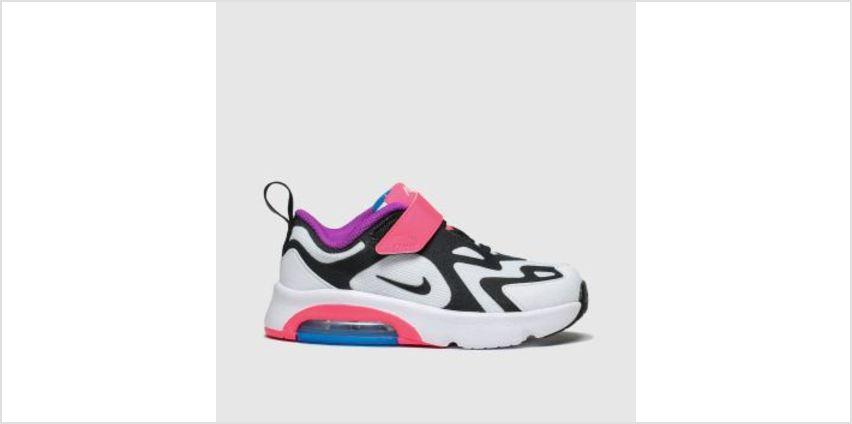 Nike White & Black Air Max 200 Girls Toddler from Schuh