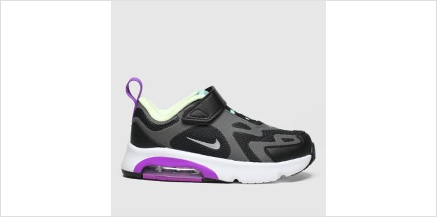 Nike Black & Purple Air Max 200 Girls Toddler from Schuh