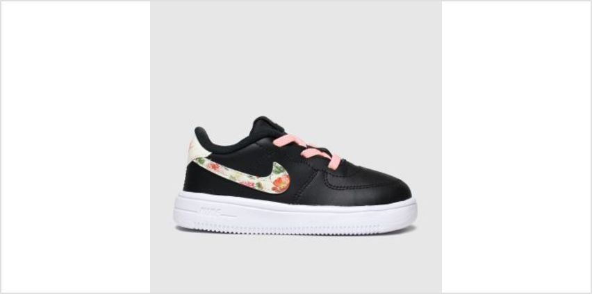 Nike Black & pink Air Force 1 18 Vf Girls Toddler from Schuh