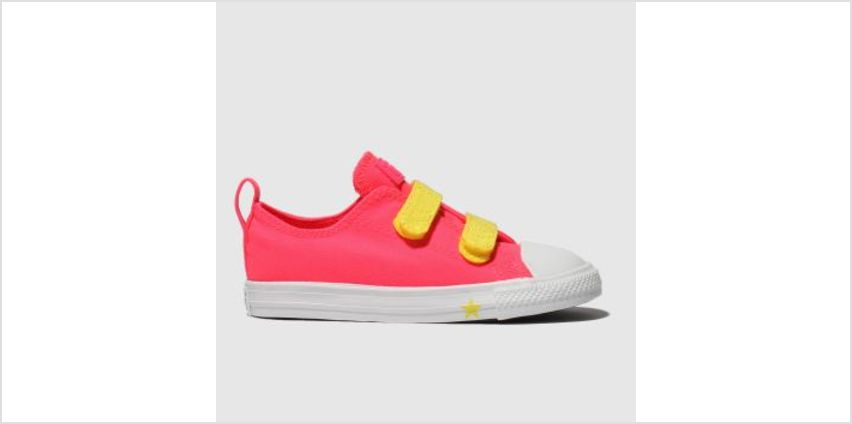 Converse Pink Chuck Taylor All Star 2V Lo Girls Toddler from Schuh