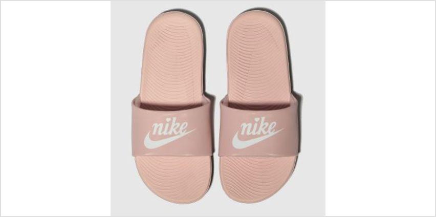 Nike Pale Pink Kawa Slide Girls Junior from Schuh