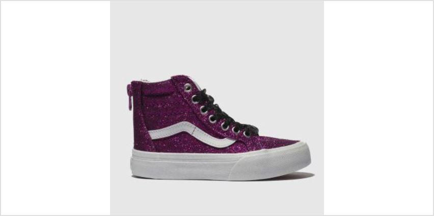 Vans Pink Sk8-Hi Zip Girls Junior from Schuh