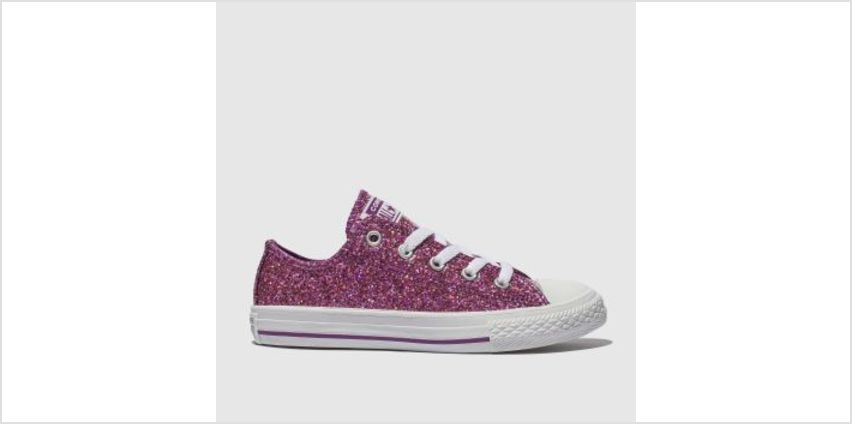 Converse Purple All Star Ox Glitter Girls Junior from Schuh