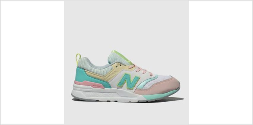 New Balance White & Pink 997H Girls Junior from Schuh