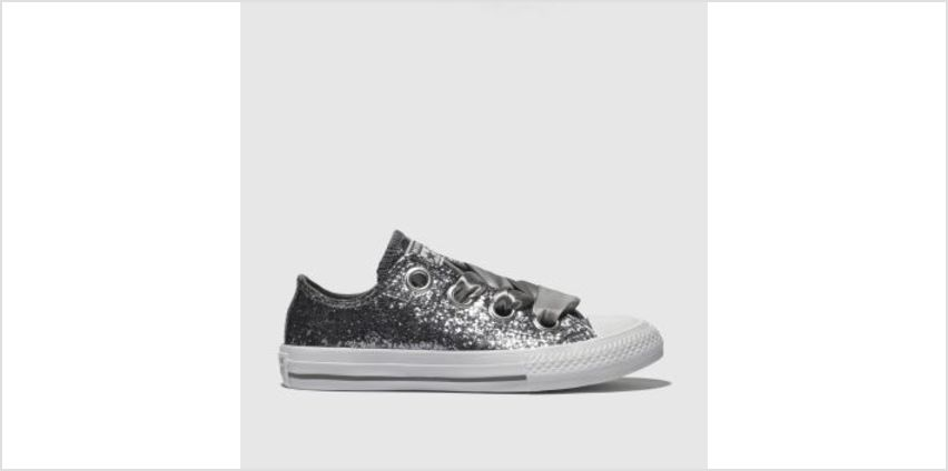 Converse Silver All Star Big Eyelets Lo Girls Junior from Schuh