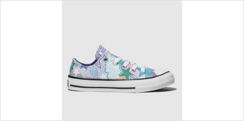 Converse Purple & Green Chuck Taylor All Star Lo Girls Junior from Schuh