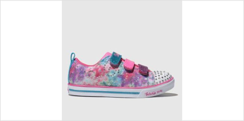 Skechers Pink Sparkle Lite Rainbow Brights Girls Junior from Schuh
