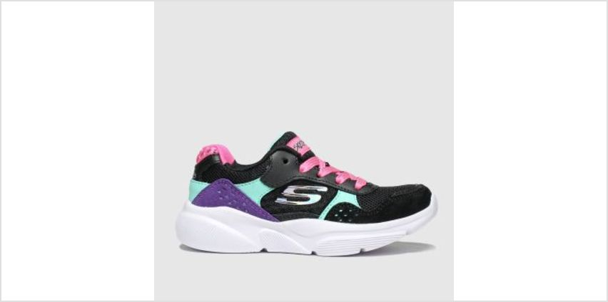 Skechers Black & pink Meridian Charted Girls Junior from Schuh