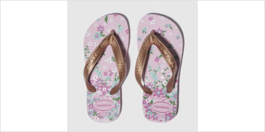 Havaianas Pink & Gold Kids Flores Girls Junior from Schuh