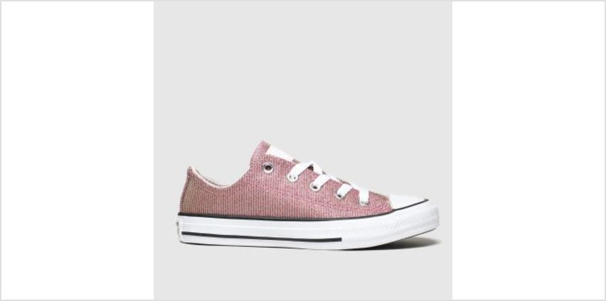 Converse Pink All Star Lo Space Star Girls Junior from Schuh