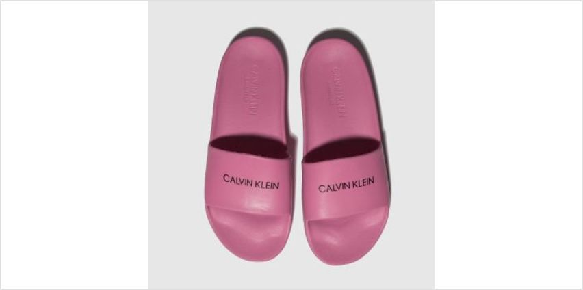 Calvin Klein Pink Slides Girls Youth from Schuh