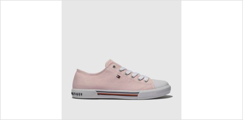 Tommy Hilfiger Pale Pink Lace Up Sneaker Girls Youth from Schuh