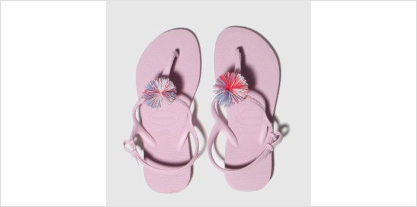 Havaianas Pale Pink Freedom Pompom Girls Youth from Schuh