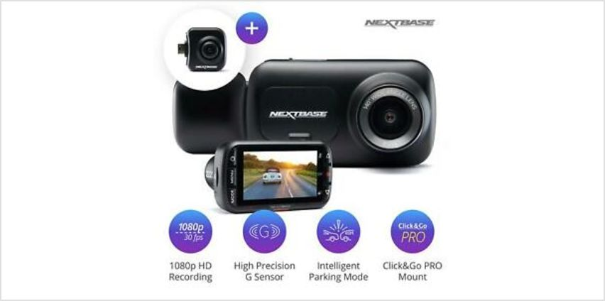 Nextbase 222x Front Dash Cam and Rear Camera Bundle Night Vision from ebay