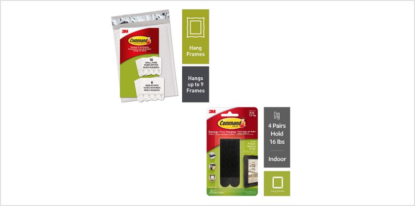 Up to 20% off Command Hanging Strips  from Amazon