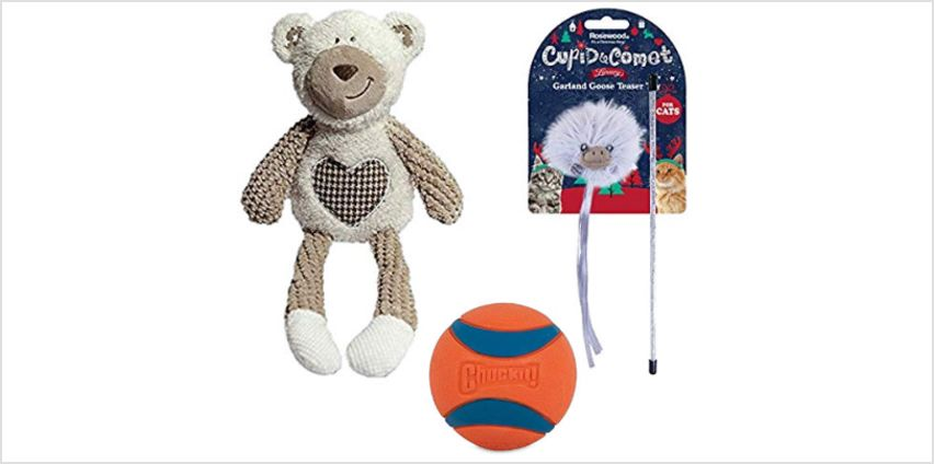 25% off toys for dogs, cats and small animalls from Amazon