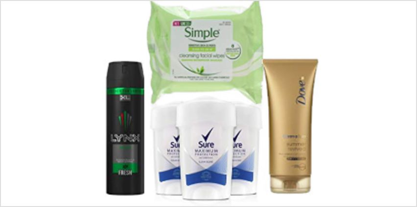 30% off Skin Care Bestsellers including Lynx, Dove, Simple and Sure  from Amazon