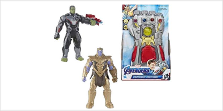 Up to 30% off Avengers Endgame toys from Hasbro from Amazon