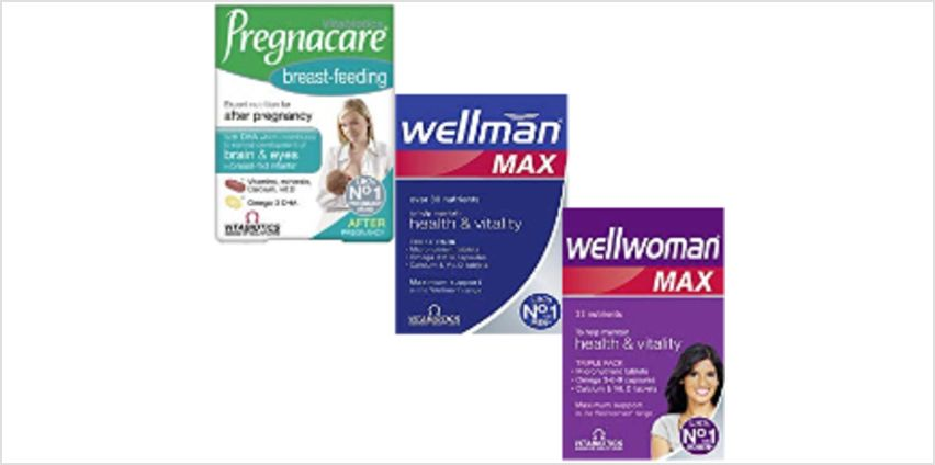 Up to 30% off selected Vitabiotics from Amazon