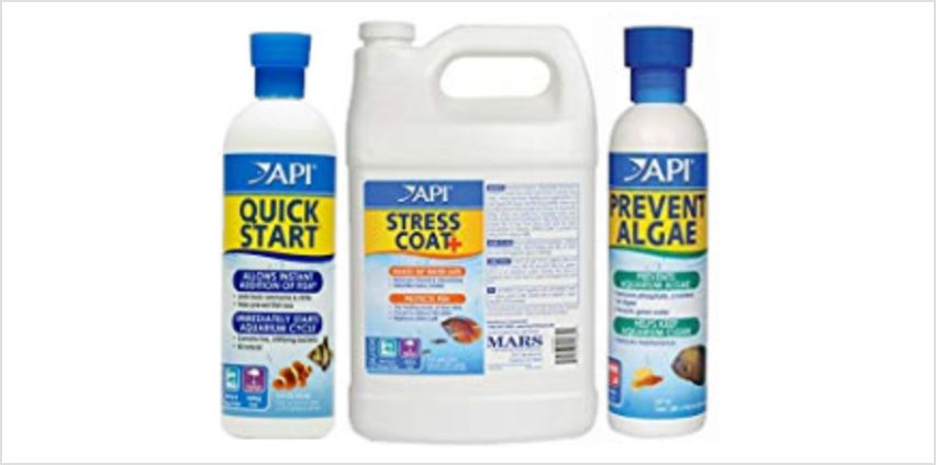 Save on API aquatic treatment products from Amazon